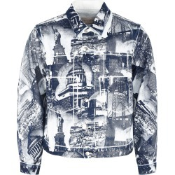 Buscemi Printed Denim Jacket found on MODAPINS from Italist for USD $613.97