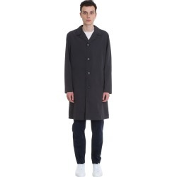 Theory Coat In Petroleum Polyester