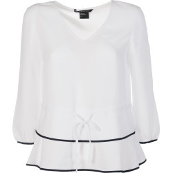 Armani Collezioni Cinched Waist Peplum Blouse found on MODAPINS from Italist for USD $55.20