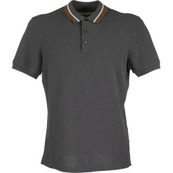 Brunello Cucinelli Cotton Piqué Slim Fit Polo Shirt With Striped Knit Collar found on Bargain Bro UK from Italist