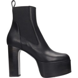 Rick Owens Elastic Kiss High Heels Ankle Boots In Black Leather found on Bargain Bro UK from Italist
