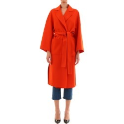 Loewe Oversize Belted Coat Orange found on Bargain Bro India from Italist Inc. AU/ASIA-PACIFIC for $2270.51