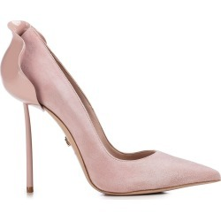 Le Silla Light Pink Suede Petalo 100 Pumps found on MODAPINS from italist.com us for USD $668.24