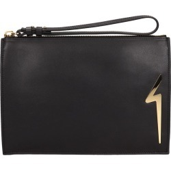 Giuseppe Zanotti G-pouch Black Leather Pouch found on Bargain Bro India from Italist Inc. AU/ASIA-PACIFIC for $564.39