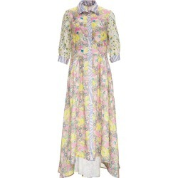 Anjuna Floral Linen Long Dress found on MODAPINS from Italist for USD $857.57