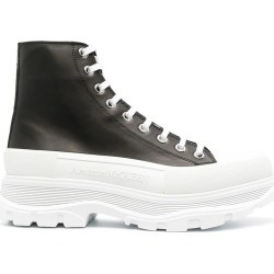 Alexander McQueen Leath. Upper And Rubber Sole High Boots found on MODAPINS from italist.com us for USD $636.44