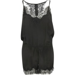 Gold Hawk Laced Detail Sleeveless Playsuit found on MODAPINS from Italist for USD $247.36