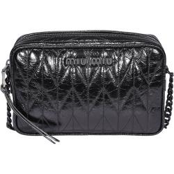 Miu Miu Shine Leather Quilted Bandoliera Leather Bag