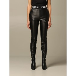 Just Cavalli Pants Just Cavalli Leggings In Synthetic Leather With Logo found on MODAPINS from italist.com us for USD $252.01