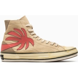 Palm Angels Vulc Palm High Top Canvas Sneakers Pmia048e20fab001 found on Bargain Bro UK from Italist