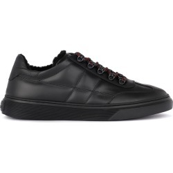 Hogan H365 Black Leather And Sheepskin Sneaker found on Bargain Bro UK from Italist