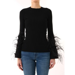 Valentino Black Shirt With Feathers