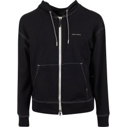 Armani Collezioni Zip-up Hooded Sweatshirt found on MODAPINS from Italist for USD $112.25