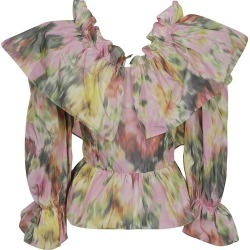 MSGM Floral Print Ruffled Top found on Bargain Bro UK from Italist