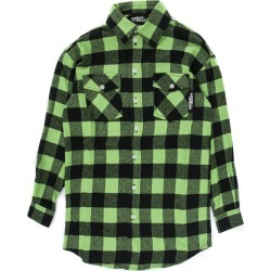 Jeremy Scott Black And Green Checked Shirt found on MODAPINS from italist.com us for USD $214.10