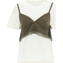 T-shirt With Wool Blend Top