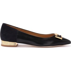 Tory Burch Gigi Ballerina In Soft Black Nappa And Suede. found on Bargain Bro UK from Italist