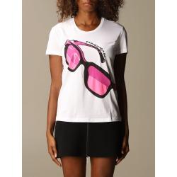 Emporio Armani T-shirt Emporio Armani Cotton T-shirt With Glasses Print found on Bargain Bro UK from Italist