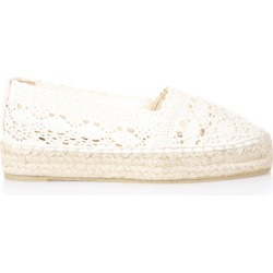 Castañer Natural Perforated Espadrille In Cotton found on MODAPINS from Italist for USD $117.33