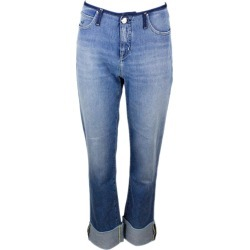 Jacob Cohen Jeans Trousers In Regular Low-waisted Denim With High Turn-up 5 Pockets In Stretch Cotton With Natural Indago Zip found on MODAPINS from italist.com us for USD $295.46