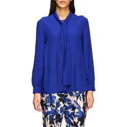 Boutique Moschino Shirt Boutique Moschino Crêpe Blouse With Bow found on MODAPINS from Italist for USD $382.46