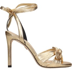 Lola Cruz Sandals In Gold Leather found on Bargain Bro UK from Italist