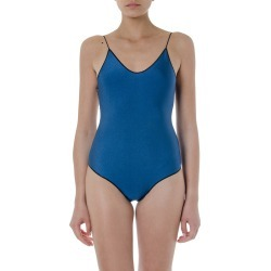 Oseree Blue And Black Travaille Swimsuit found on MODAPINS from italist.com us for USD $154.73