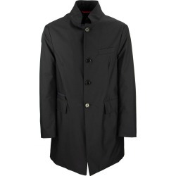 Fay Slim Fit Padded Gabardine Coat Blue found on MODAPINS from Italist for USD $570.62