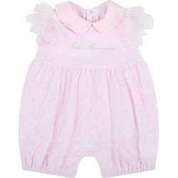 Blumarine Pink Romper For Baby Girl With Logo found on Bargain Bro India from italist.com us for $157.13