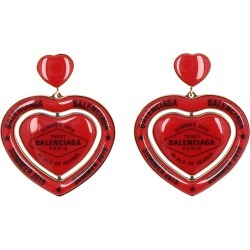 Balenciaga casino Earp Heart Earrings found on Bargain Bro India from italist.com us for $339.75