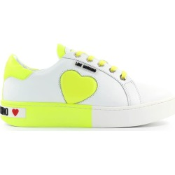 Love Moschino White Yellow Sneaker found on MODAPINS from Italist for USD $243.14
