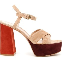 Gianvito Rossi Multicolor Suede Platform Sandals found on MODAPINS from Italist for USD $899.47