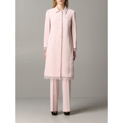 Blumarine Coat Blumarine Cady Coat With Lace Inserts found on MODAPINS from Italist for USD $1261.15