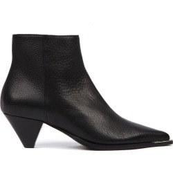 Aldo Castagna Black Hammered Leather Ankle Boot found on MODAPINS from Italist for USD $324.66