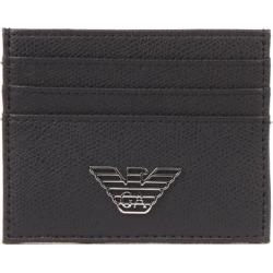 Emporio Armani Eagle Logo Plaque Credit Card Slots
