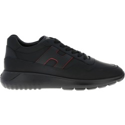 Hogan Sneakers Hogan Interactive Sneakers 3 In Smooth Leather With Big H In Hammered Leather
