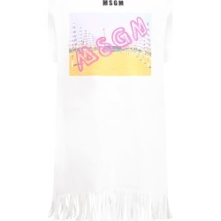 MSGM White Dress For Girl With Colorful Print found on Bargain Bro Philippines from italist.com us for $134.99