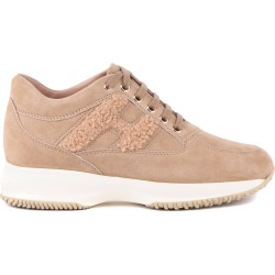 Hogan Beige Interactive Suede Sneaker found on MODAPINS from Italist for USD $483.46