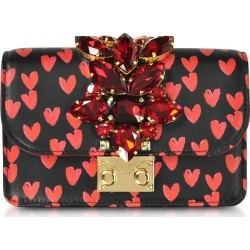 Gedebe Mini Cliky Nappa Printed Red Hearts Clutch W/chain Strap found on MODAPINS from Italist for USD $620.03