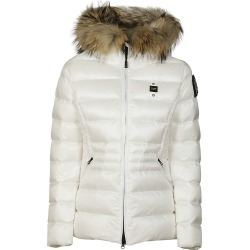 Blauer Sleeve Path Furry Hood Padded Jacket found on MODAPINS from Italist for USD $446.04