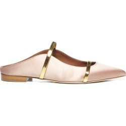 Malone Souliers Maureen Satin And Patent Leather Flat Mules found on MODAPINS from italist.com us for USD $494.04