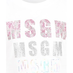 MSGM White T-shirt For Girl With Logos found on Bargain Bro Philippines from italist.com us for $116.44