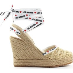 Love Moschino Beige Raffia Wedge Sandal found on MODAPINS from Italist for USD $306.19