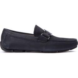 Salvatore Ferragamo Sardegna Blue Leather Loafers found on Bargain Bro UK from Italist