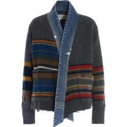 Greg Lauren mixed Long Blanket Jacket found on MODAPINS from Italist for USD $1539.76