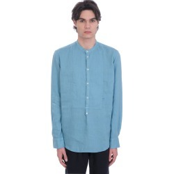 Massimo Alba Kos Shirt In Cyan Linen found on MODAPINS from italist.com us for USD $278.53