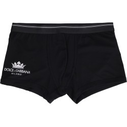 Dolce & Gabbana Logo Print Cotton Trunks found on Bargain Bro UK from Italist