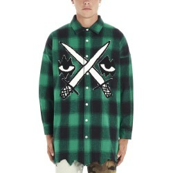 Haculla fighter Eyez Plad Shirt found on MODAPINS from Italist for USD $232.25