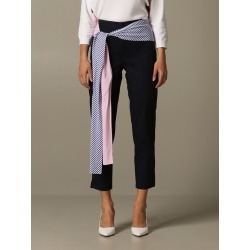 Armani Exchange Pants Armani Exchange Trousers In Poplin With Striped Band found on MODAPINS from Italist for USD $209.05