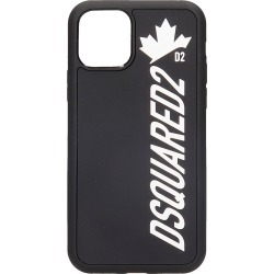 Dsquared2 Leaf 11 Pro Iphone Cover In Black Pvc